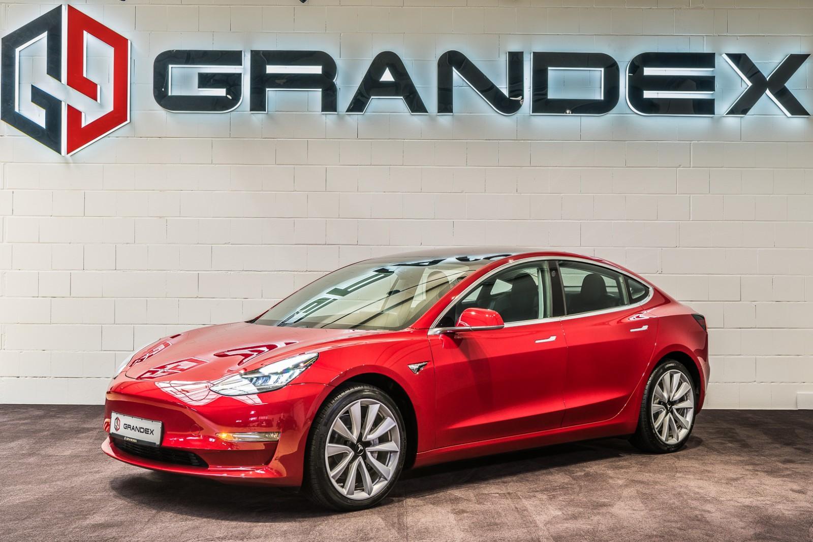 Tesla Model 3 Red With Black Interior